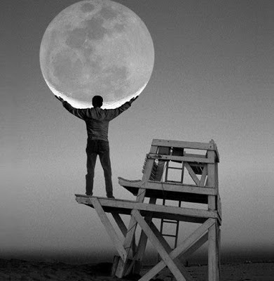 Луна и фонарь