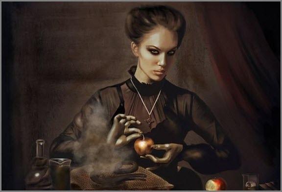 Ведьма за работой