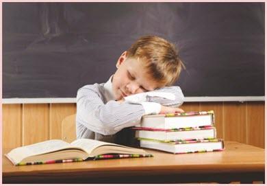 Уставший школьник