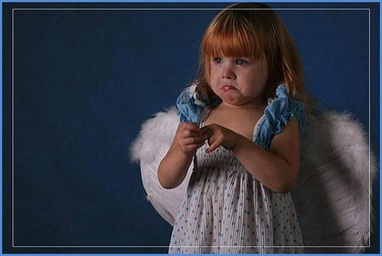 Девочка как ангел