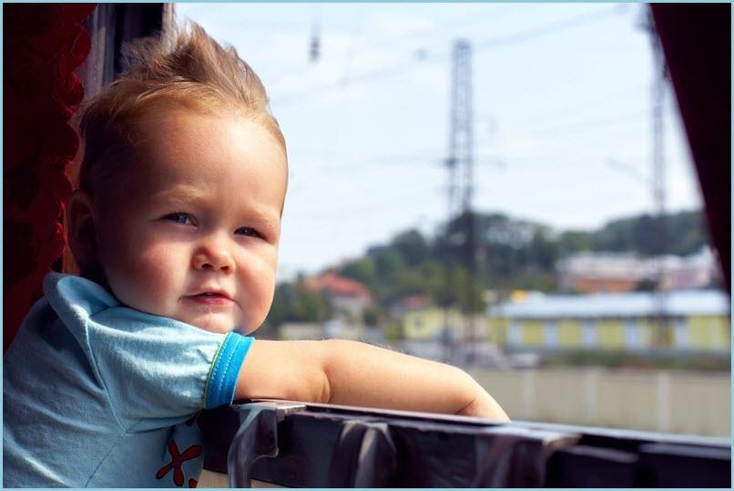 Фото ребёнка в поезде