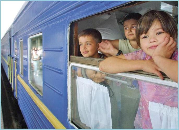 Дети в поезде