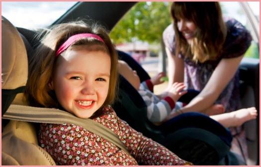 Фото детей в автомобидьных креслах
