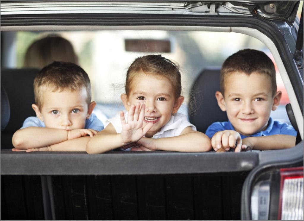 Друзья отправились в поездку на машине