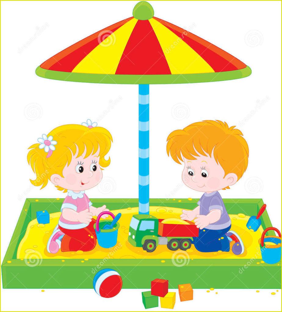 Смешная картинка с детьми в песочнице