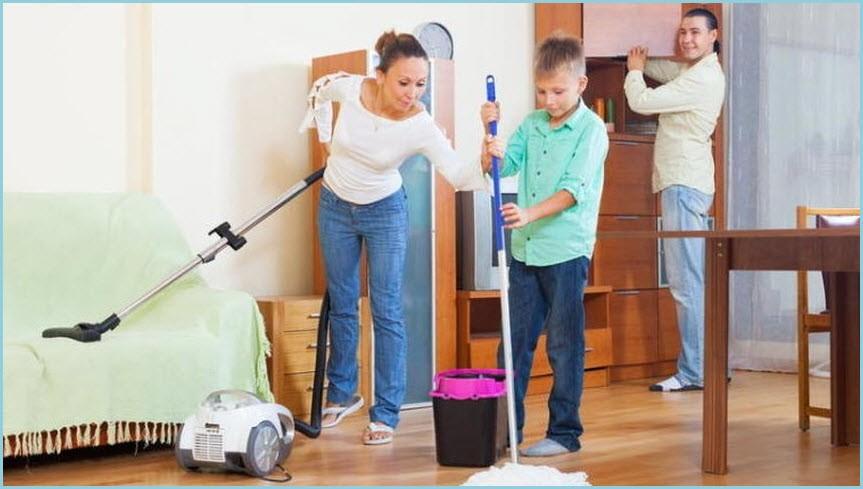 Делаем уборку всей семьёй