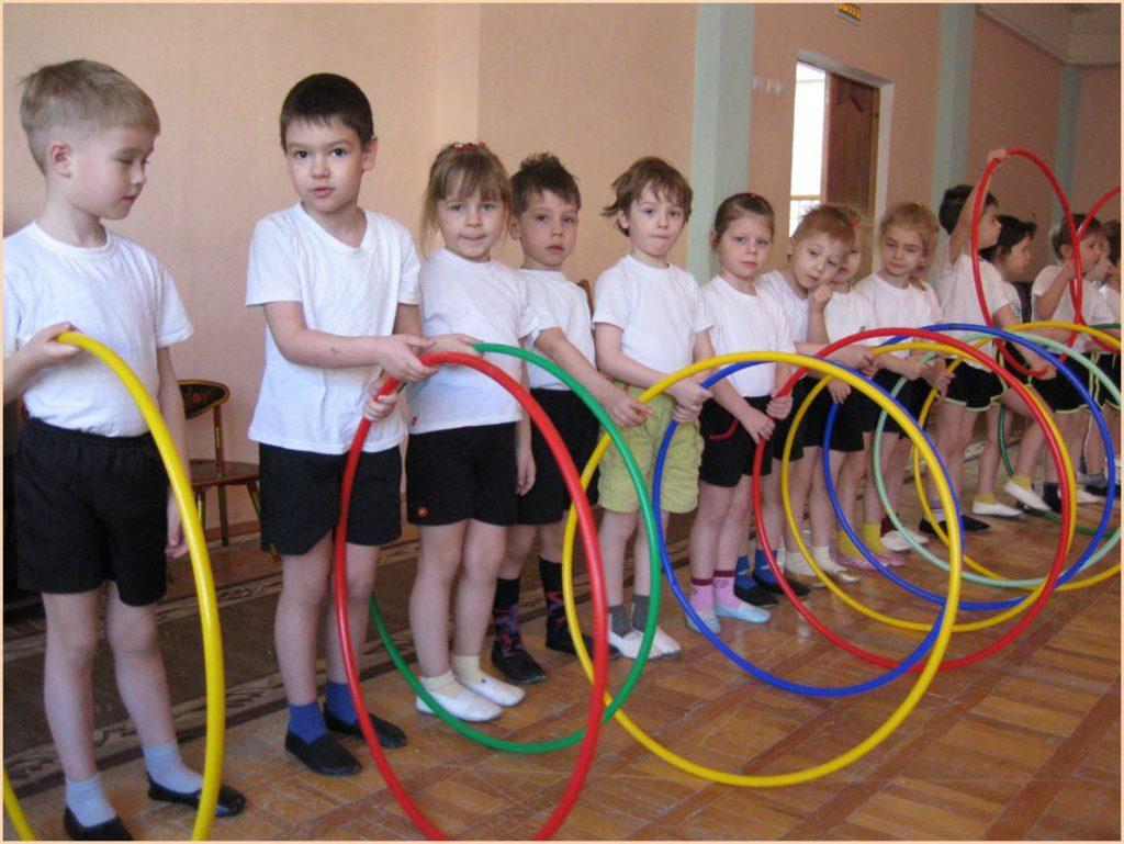Фото детей с обручами