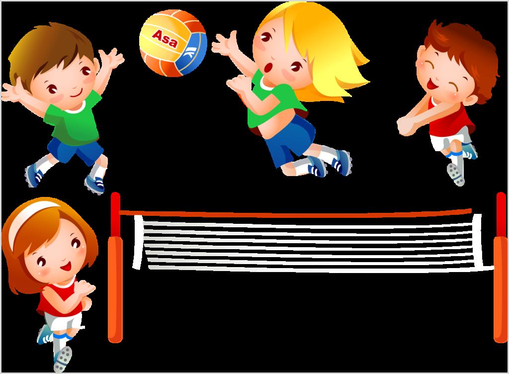 Картинка с играющими в волейбол