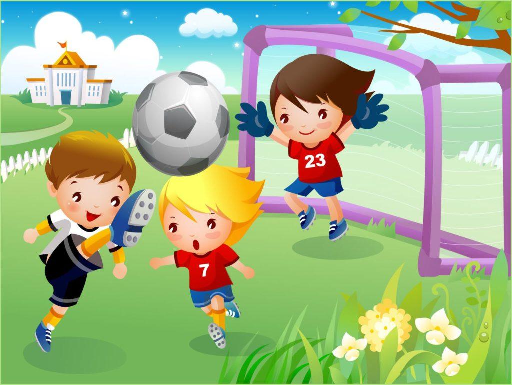Смешная картинка с юными футболистами