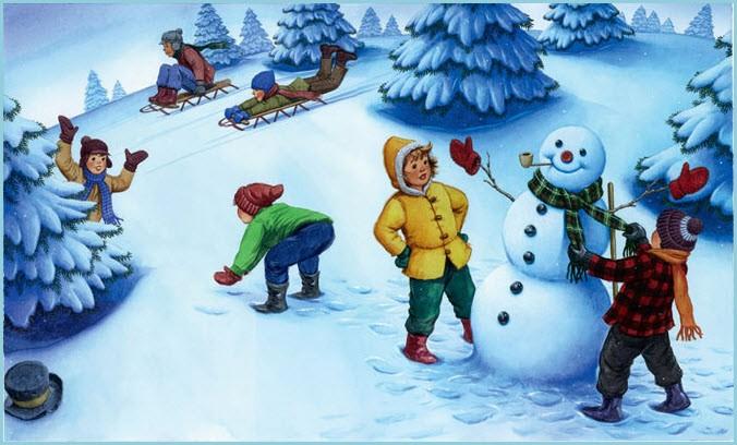 Прикольная картинка со снеговиком