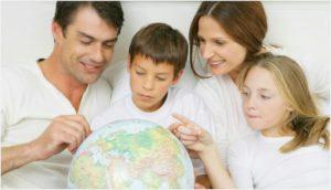 Глобус и дети