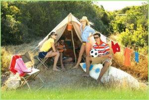 Весёлая жизнь в палатке на природе