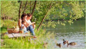 Пикник на берегу озера