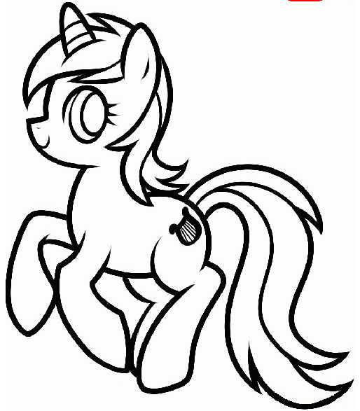срисовка пони