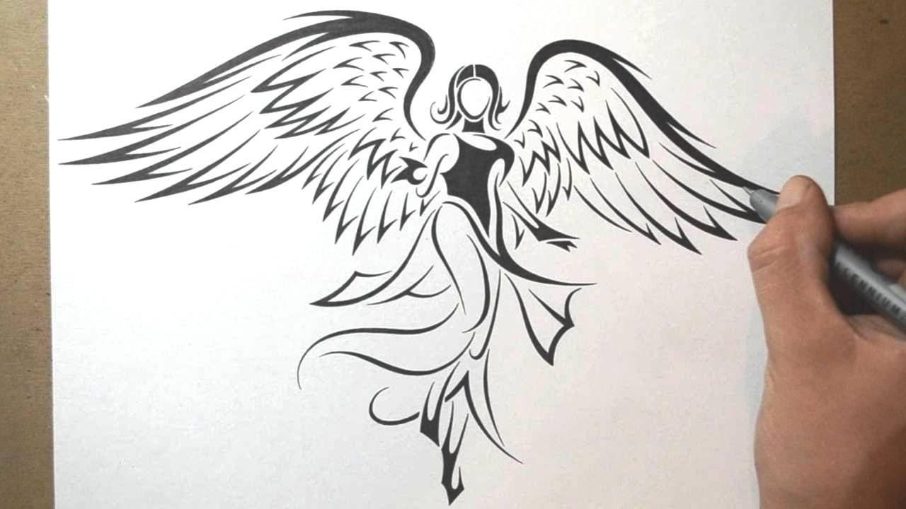 срисовка ангела