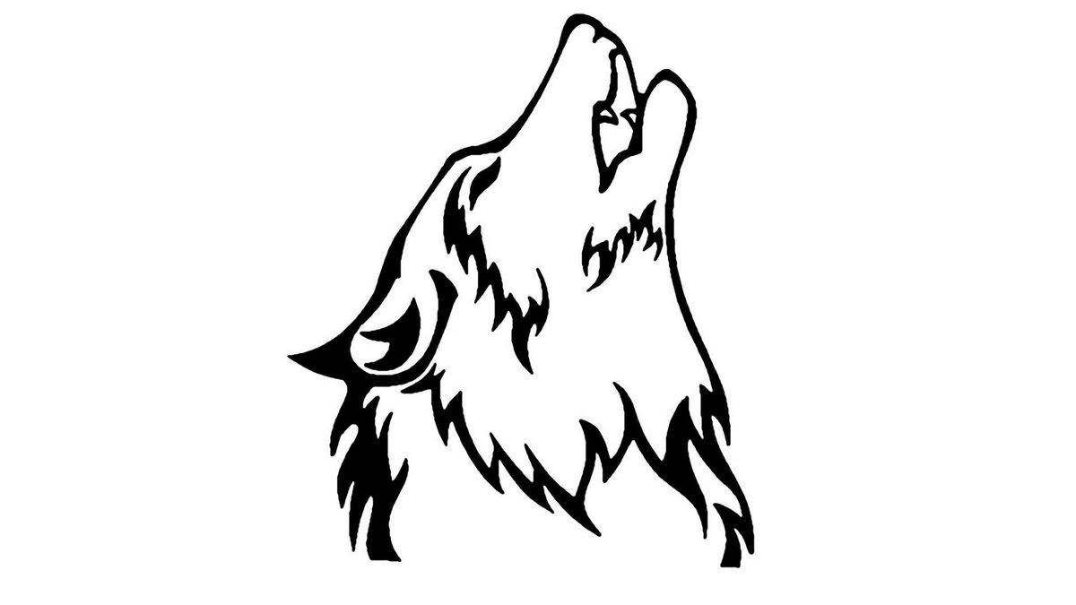 срисовка волка