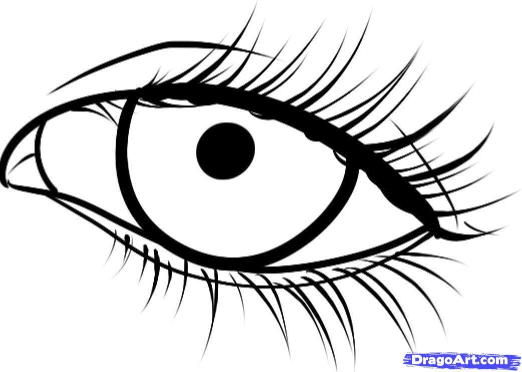 срисовка глаз