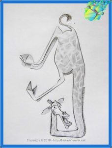 Смешной жираф