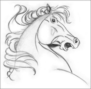 Конь скачет