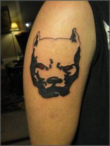 Татуировка собака
