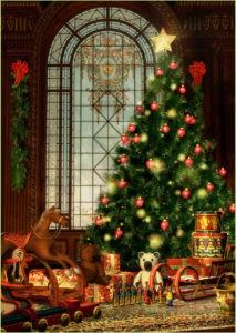 Красивая рождественская ёлка