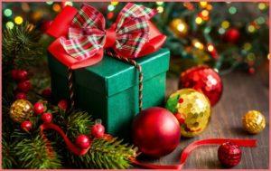 Открытка рождественские подарки