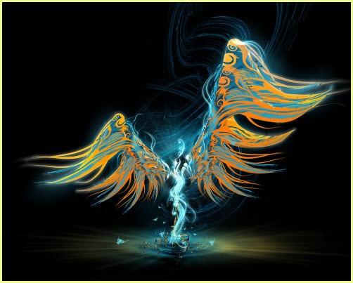 Ангел с крыльями