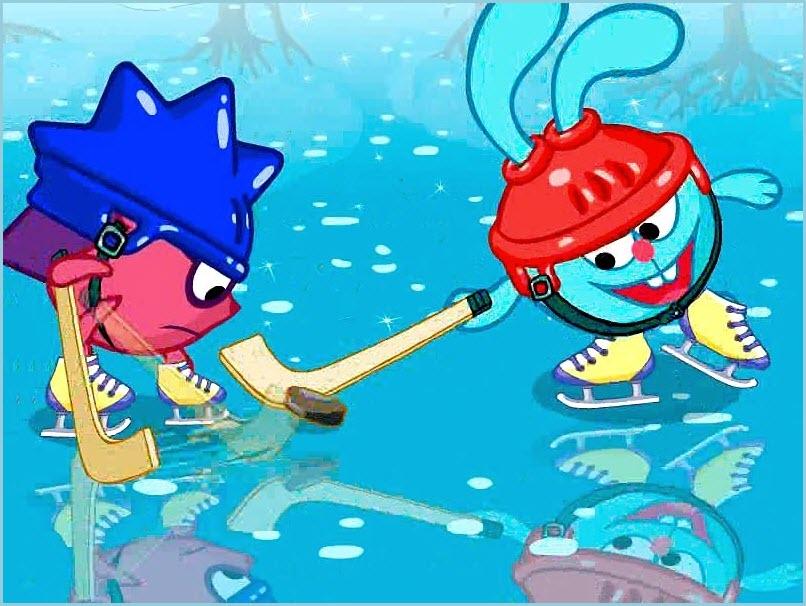 смешарики хоккей