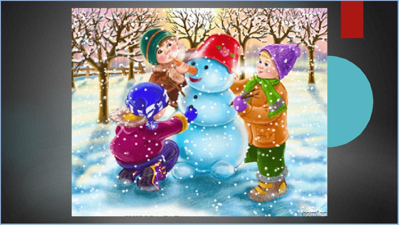 Красивый снеговик