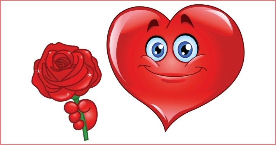 Смайлик сердечко 3