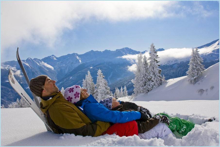 Отпуск зимой в горах