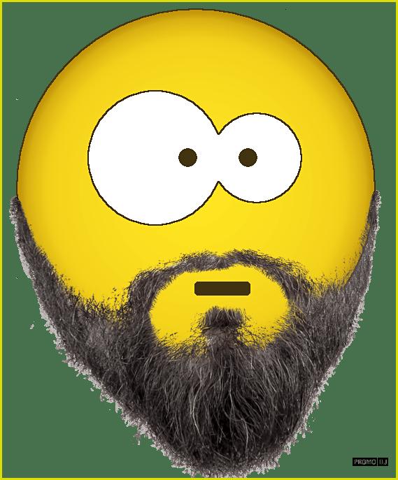Смайлик с бородой