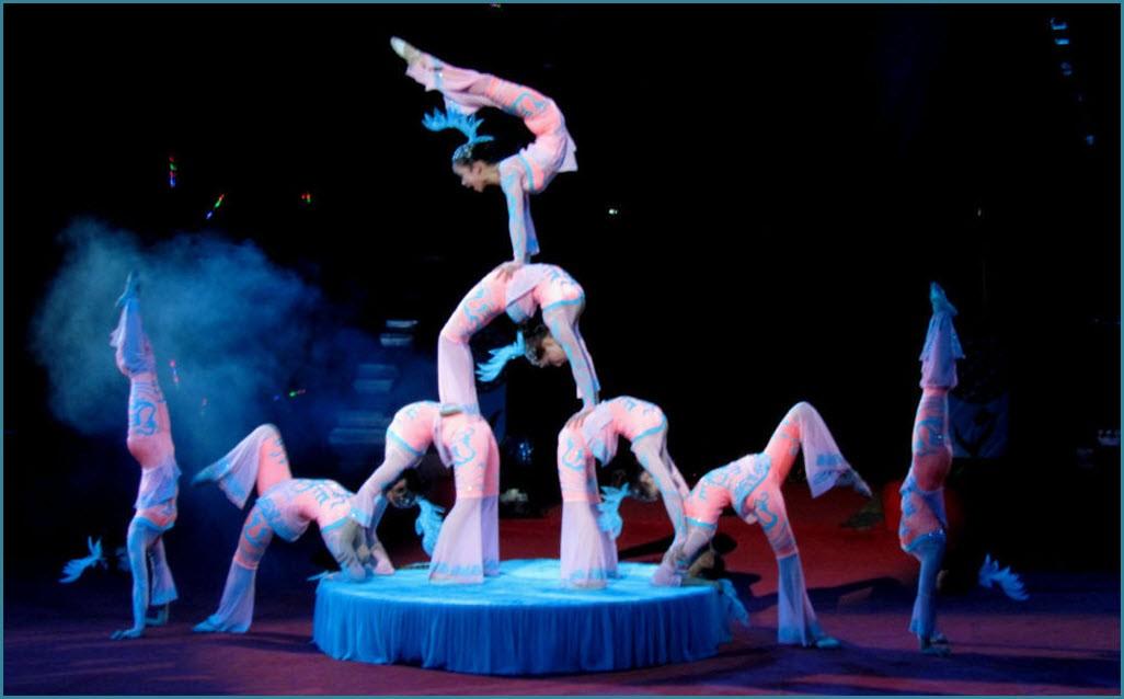 Акробаты в цирке