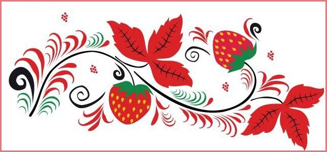 Узор ягоды