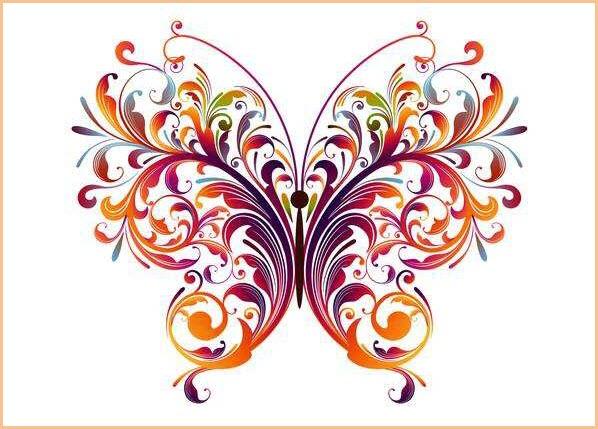 Узор бабочка