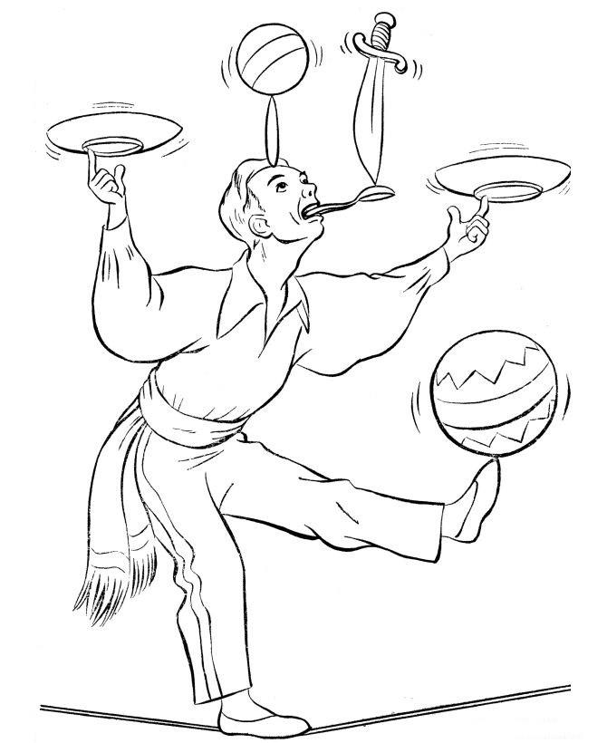 Жонглёр рисунок 5