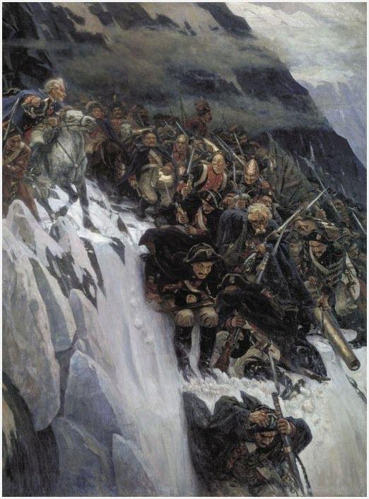 Переход Суворова через Альпы картина