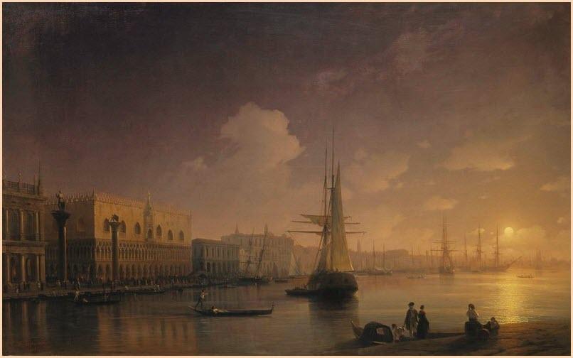 Ночь Венеция