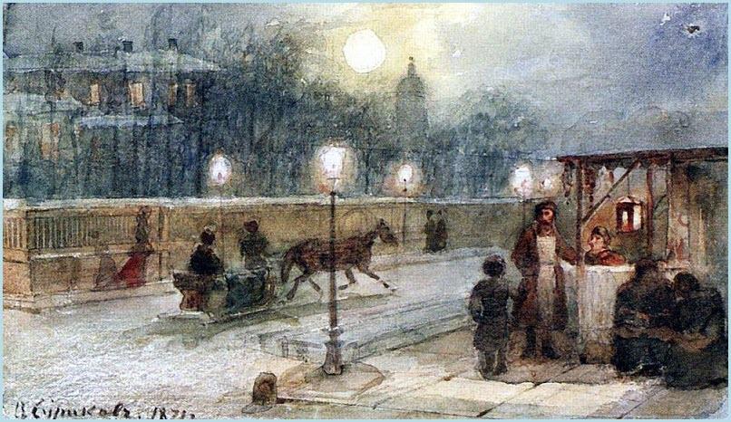Вечер в Петербурге картина