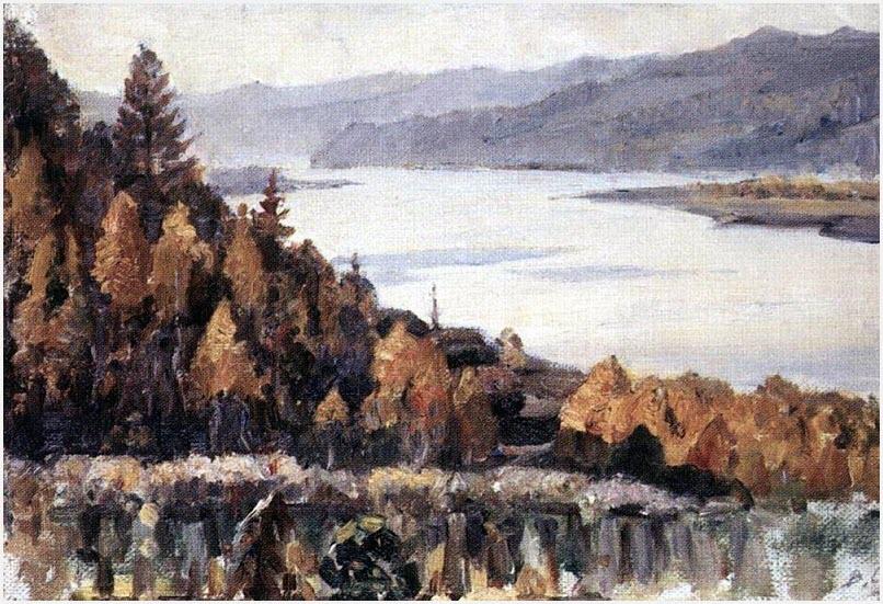 Енисей у Красноярска картина