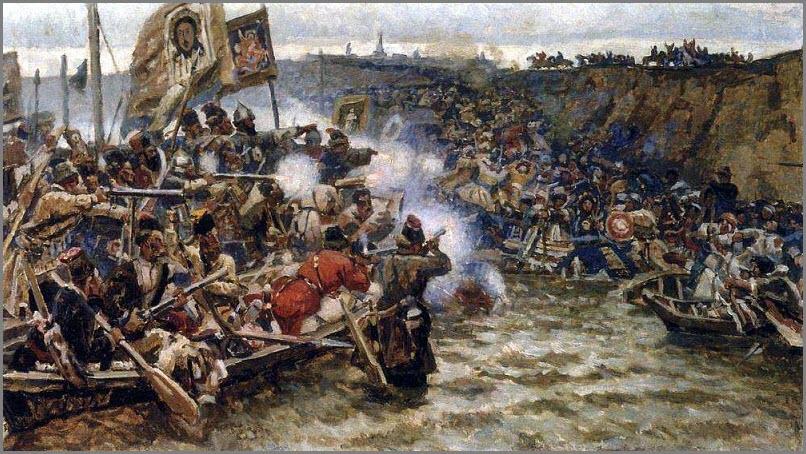 Покорение Сибири Ермаком картина