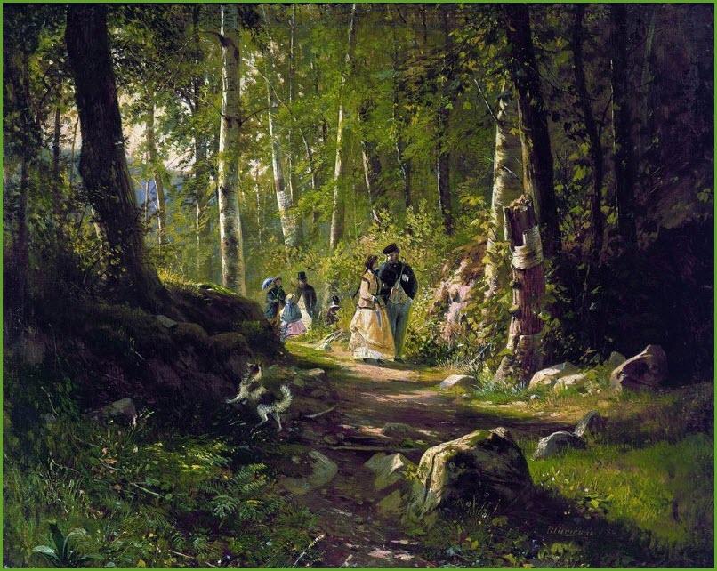 Прогулка в лесу фото