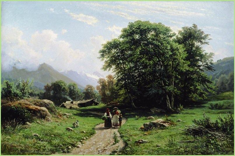 Швейцарский пейзаж картина