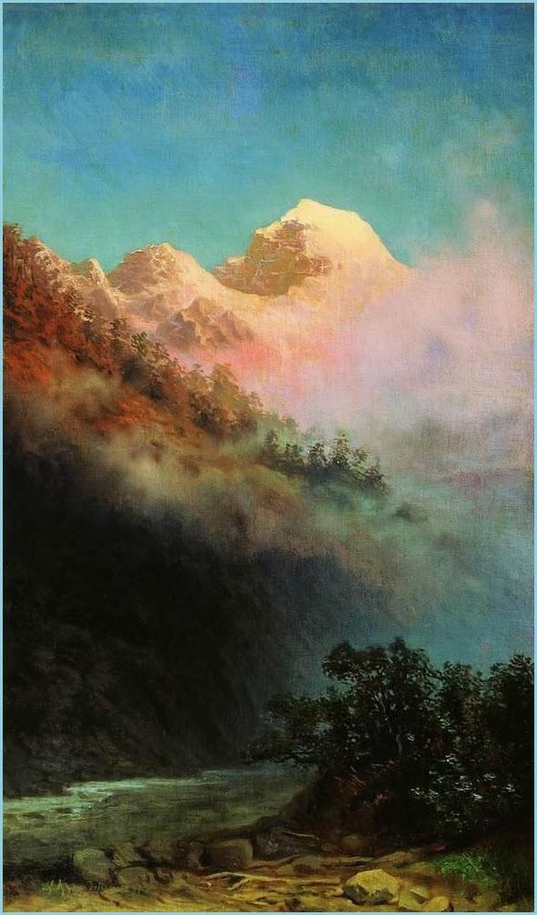 Восход солнца картина