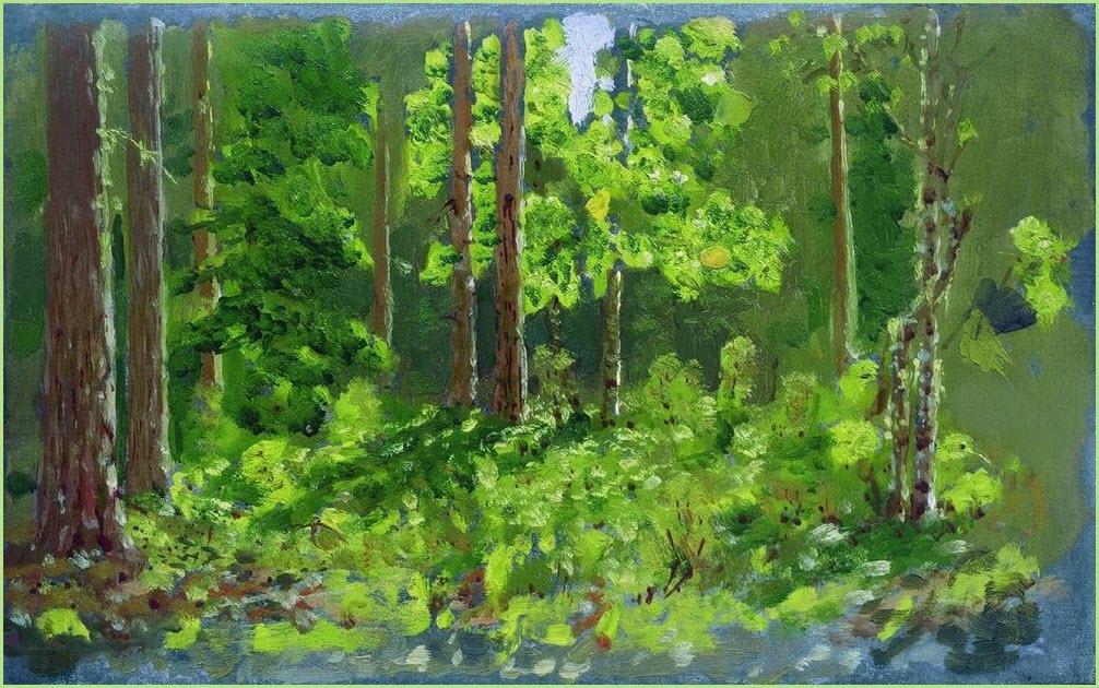 Лес картина 2