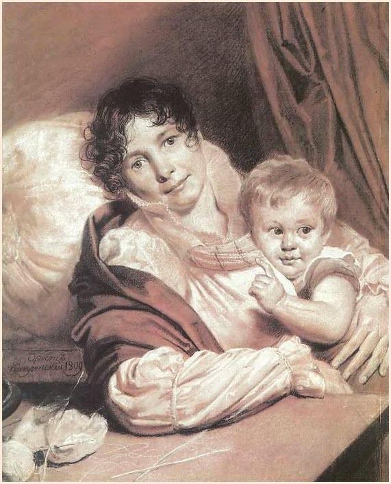 Мать с ребёнком картина