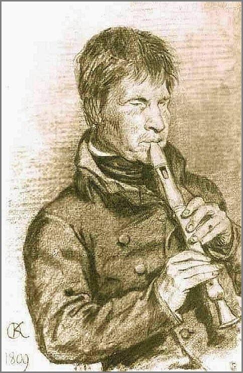 Слепой музыкант картина