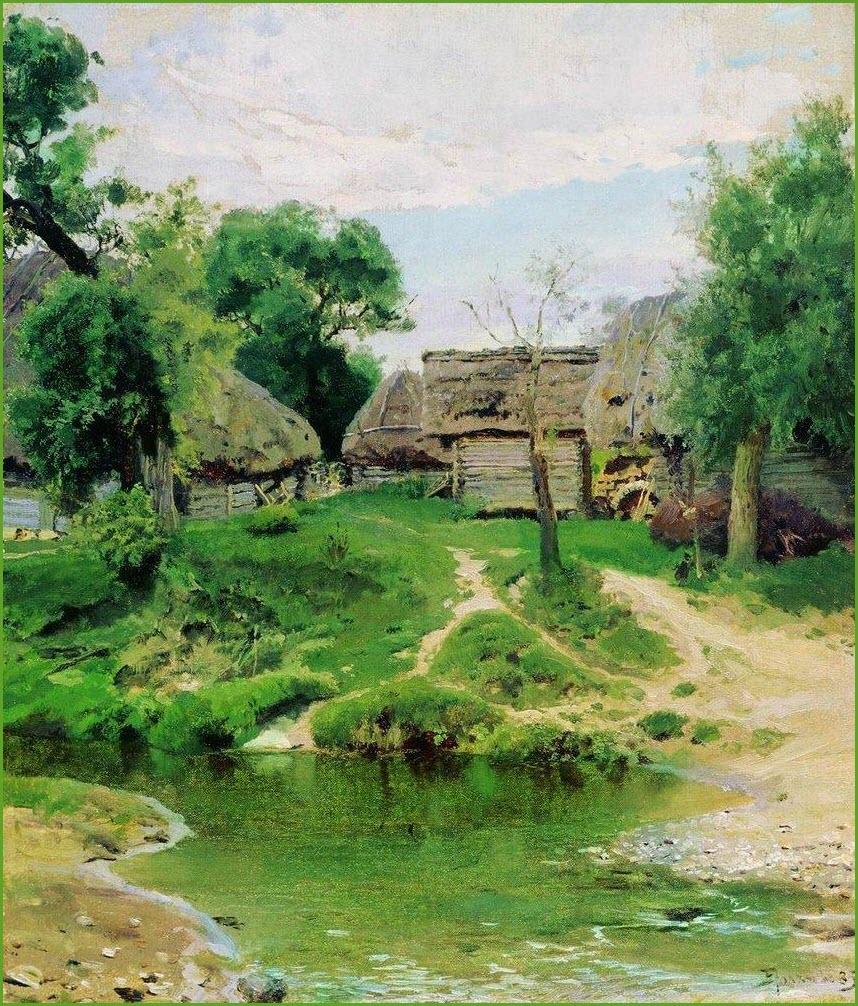 Деревня картина