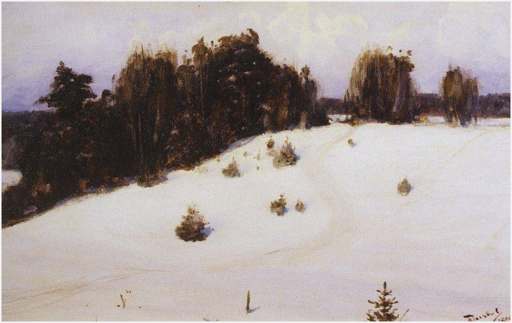 Зима рисунок