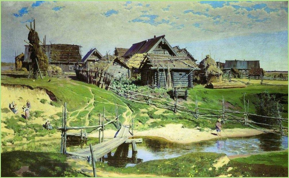 Русская деревня картина